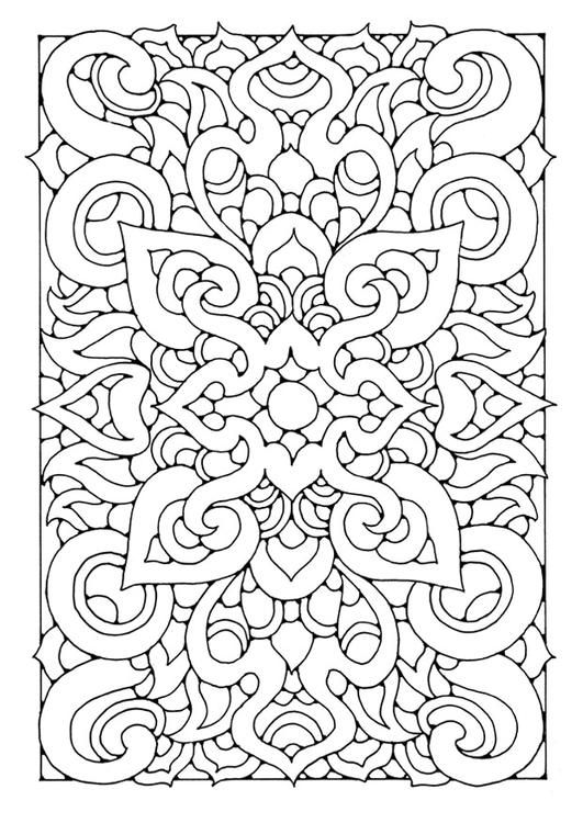 Think How Awesome This Would Be Embroidered Coloring Page Mandala