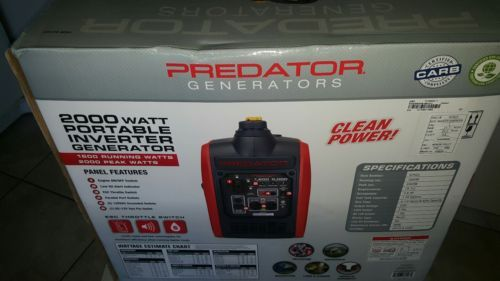 Predator 2000 Watt Generator Inverter Super Quiet and Small free Shipping to PR