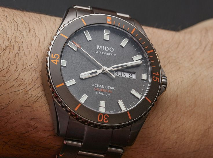 "Mido Ocean Star Captain V Titanium Watch Hands-On - by Ariel Adams - A fan of the Ocean Star? See the new titanium model now at: aBlogtoWatch.com - ""One of the surprise hits for me at Baselworld 2016 was the new Mido Ocean Star Captain V in titanium (reference M026.430.44.061.00). Mido is one of the less well-known Swatch Group brands, at least in the United States, but it has some cool watches such as the Commander and Multifort..."""