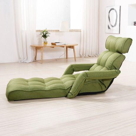 Pro Sofa Chair Recliner + Armrest (Blue)