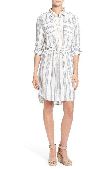 Caslon® Drawstring Waist Shirtdress (Regular & Petite) PERFECT FOR EVERYDAY!available at #Nordstrom
