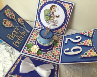Exploding box cake card Any colour scheme by SamanthaKGifts