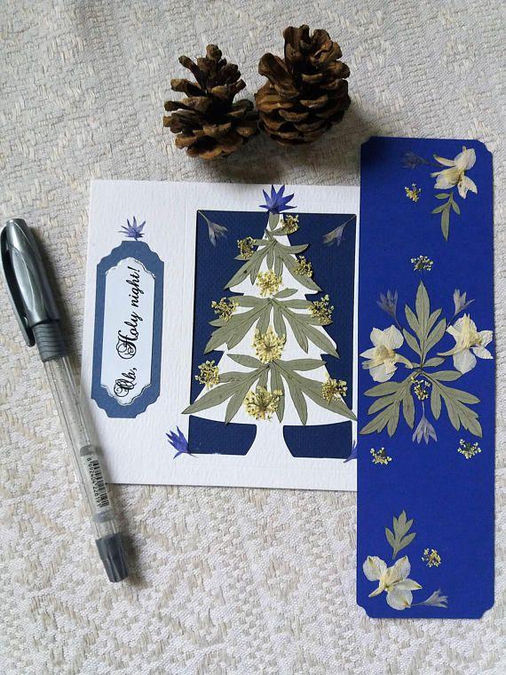 Christmas card and bookmark set. Holy night Christmas card.