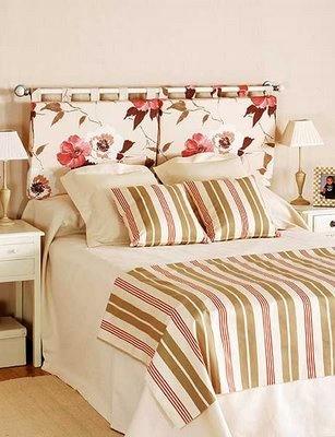 cabeceira de cama com varão e espuma forrada