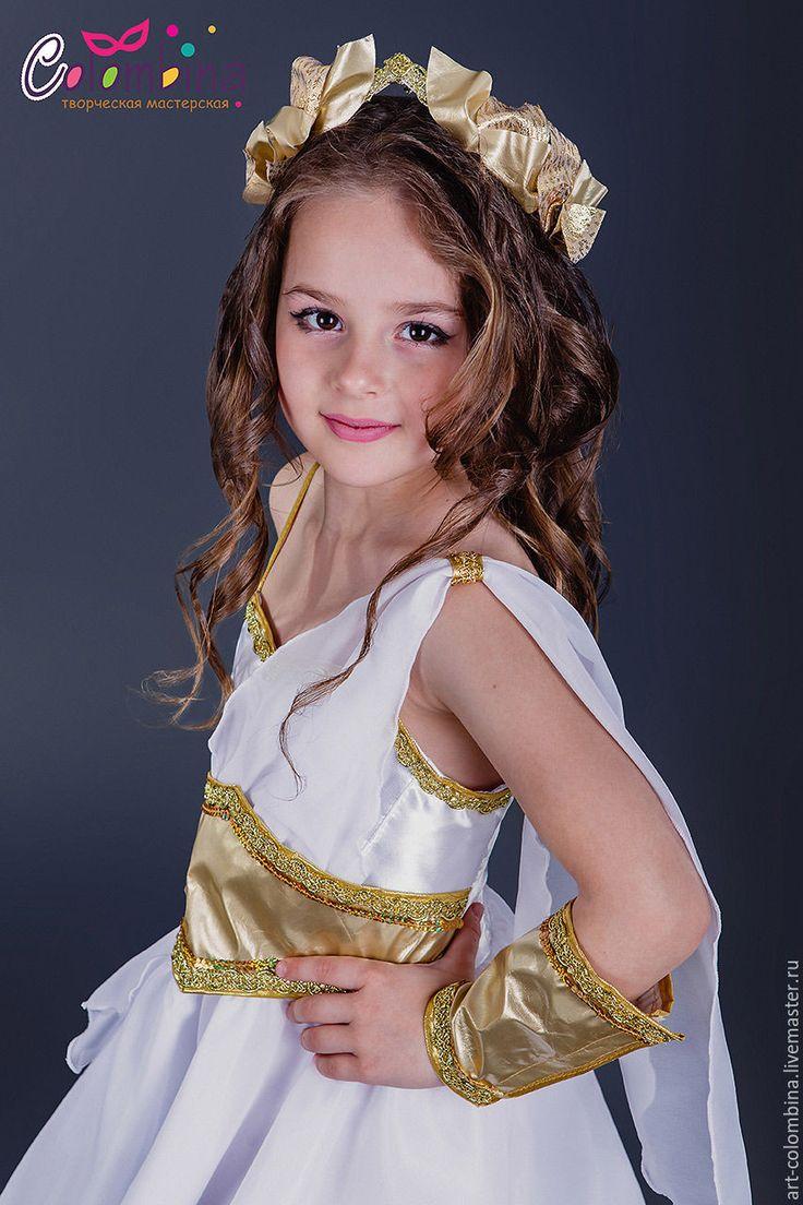Trajes Para Niños: hechos a mano.  Traje de diosa griega.  Olga (art-colombina)…