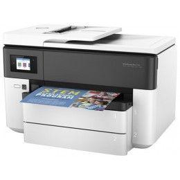 Obtenga un color de calidad profesional preparado para su negocio. Imprima con facilidad hasta 27,9 × 43,18 cm (11 × 17 pulg.) (A3) con un coste por página un 50 % inferior que las impresoras láser, y gestione las necesidades de un elevado volumen de impresión.  Hasta 30.000 páginas Inyección térmica de tinta HP + HP ePrint Impres, copia, escáner, fax 1 USB 2.