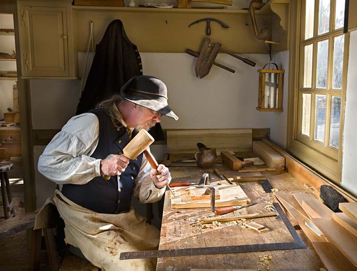 Carpenters and Joiners work at the Ayscough House on Francis Street.