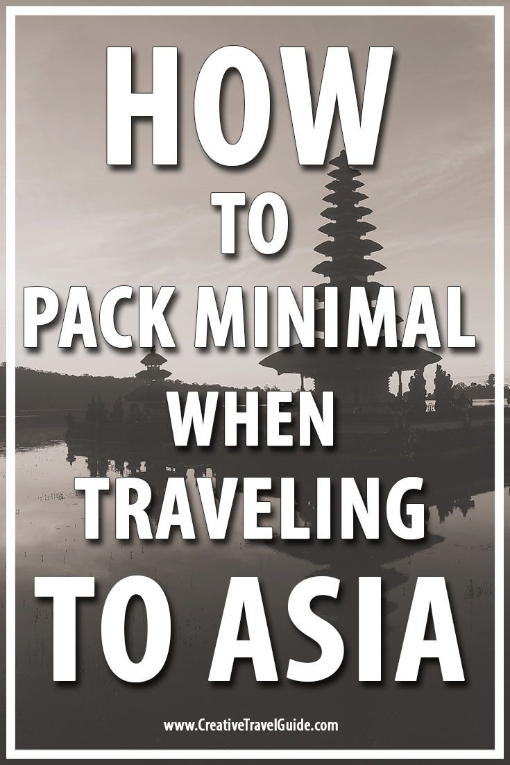 Packing minimal to almost anywhere is possible if you are willing to take up the challenge or feel sufficient with the little that you have. Traveling to Asia is huge and you need to consider the right climate to help you have a great trip and for allowing you to pack light.