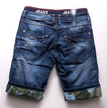 b5bda25e95328 pantalones cortos de mezclilla para hombres 3 4 Bermuda Capri pantalones  H1513