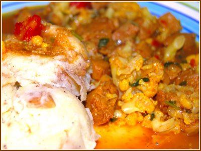 """Lamb"""" and Cauliflower Curry With Creamy Mashed Potatoes 