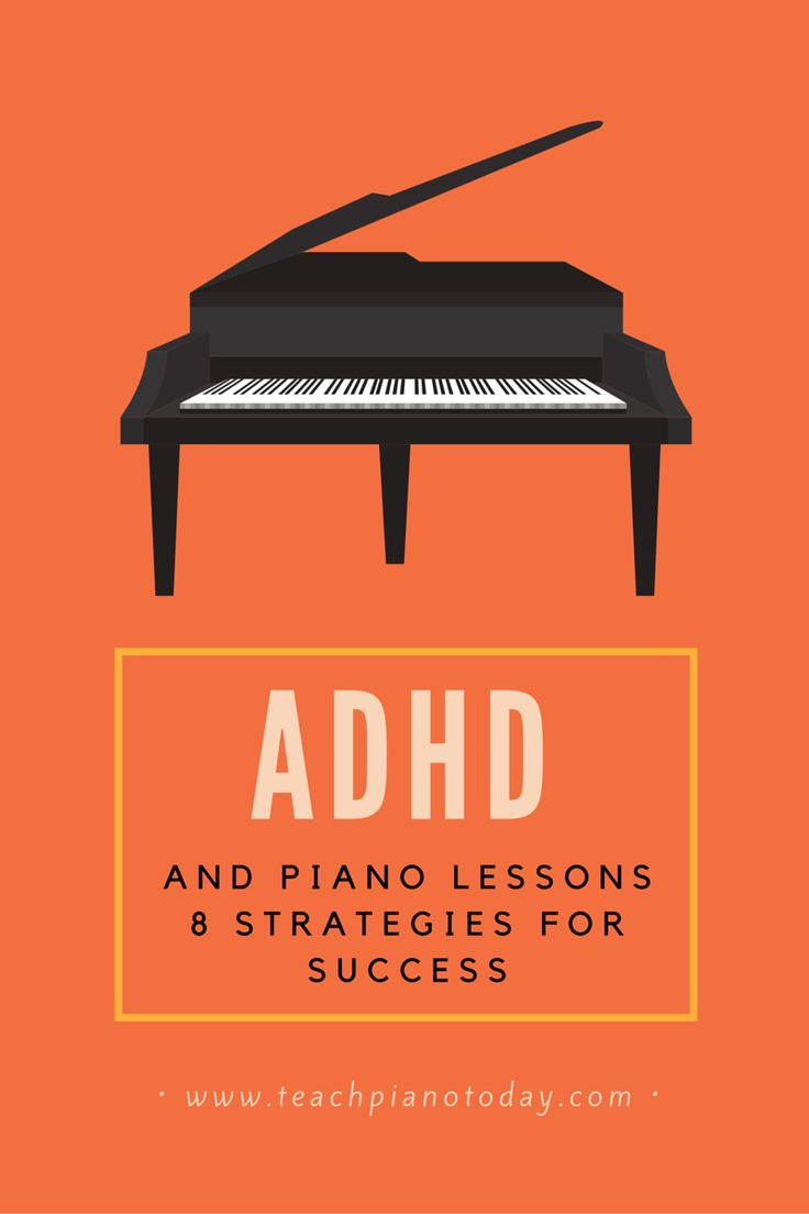 8 strategies for teaching piano lessons to students with ADD or ADHD.  #PianoTeaching #PianoLessons
