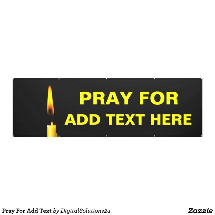 Pray For Add Text Banner