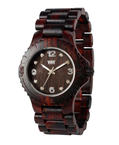 WeWood watch DATE DENEB Crystal Chocolate