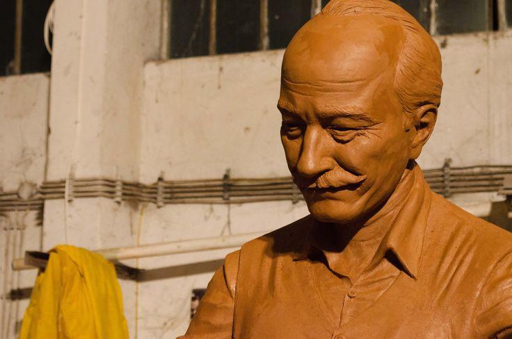 Egeli deveci heykeli yüz detayı Heykeltıraş Ömer Orcaner