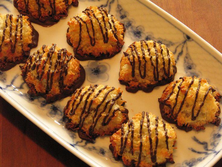 Gluten- og laktosefrie kokostoppe med nougat.
