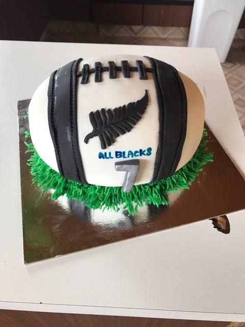 Rugby ball cake for Master 7 at Homes of Hope NZ