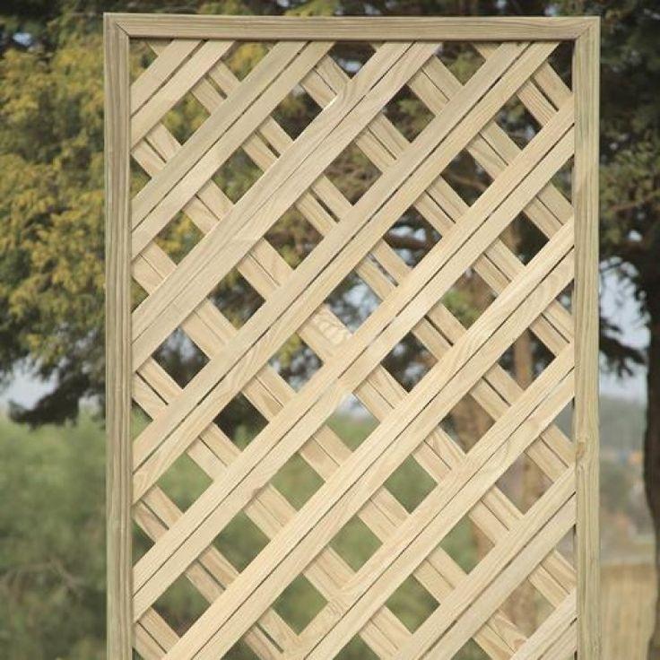 Treliça diagonal Duo de madeira tratada 120x120cm (01 unidade)