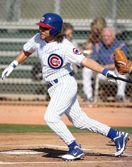 Eddie Vedder participates in a Cubs Fantasy Baseball Camp at Fitch Park in Mesa, Ariz.,