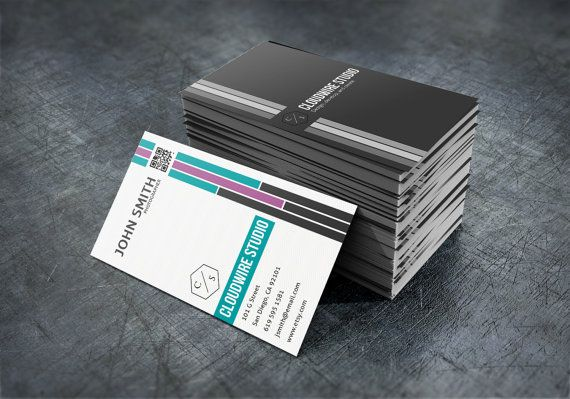 Photographer Business Card Template PSD INSTANT by cloudwirestudio