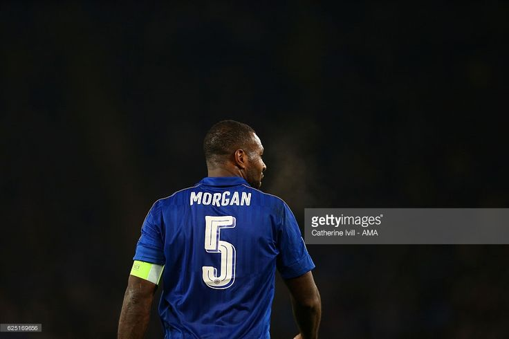 Wes Morgan of Leicester City during the UEFA Champions League match between Leicester City FC and Club Brugge KV at The King Power Stadium on November 22, 2016 in Leicester, England.