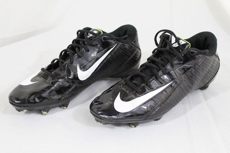 Nike Vapor Strike 4 Low D Mens size 11.5 Black Green White Football Cleats #Nike
