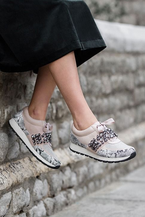 Beige Low Top Trainers.  Add extra personality to your sports luxe collection with Lovely from KG Kurt Geiger. With a pumped-up 30mm contrast sole and a scattering of gemstones to the upper, there's plenty of new-season detailing in these premium beige sneakers