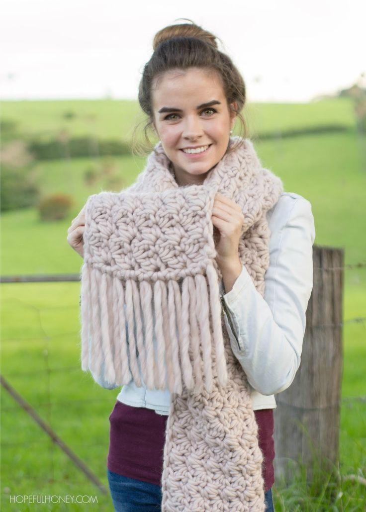 Woodrose Fringe Scarf - Crochet Pattern + Giveaway