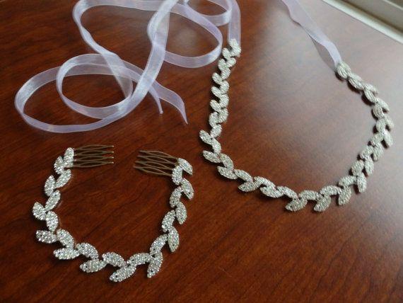 Leaves Bridal Belt, Rhinestone Hair piece, Skinny Wedding Belt, Leaf Rhinestone Sash, wedding dress sash, Reserved for Melissa