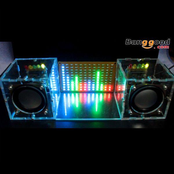 Without Housing DIY Music Spectrum LED Flash Kit + DIY Amplifier Speaker Kit