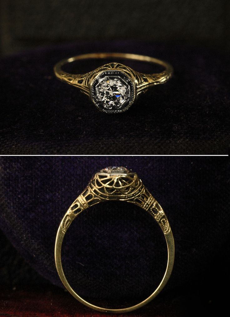 this is what my engagement rings looks like. thanks great-great grandma.