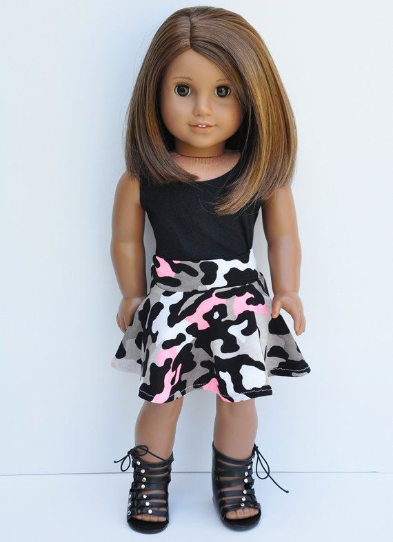 American Girl Clothes  Black Tank Top with by LoriLizGirlsandDolls, $24.00