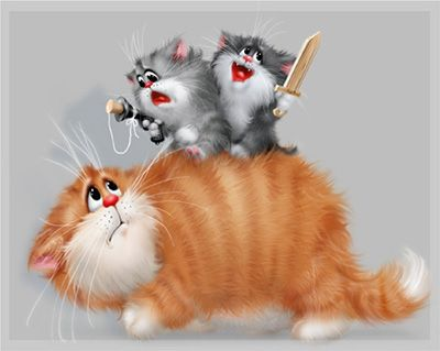 Жизнь котов (и не только котов) в работах Алексея Долотова (Ксенопус) или... море позитива!