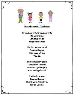 grandparents day poems for preschoolers - Google Search
