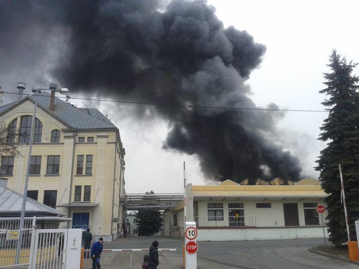 Policjanci ustalają okoliczności pożaru w braniewskim browarze
