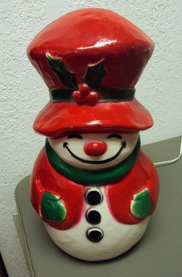 Vintage Union Products Light Up Blowmold Christmas Snowman I Have This Guy And His