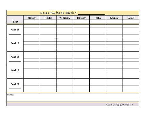 Best  Monthly Menu Planner Ideas On   Menu Calendar