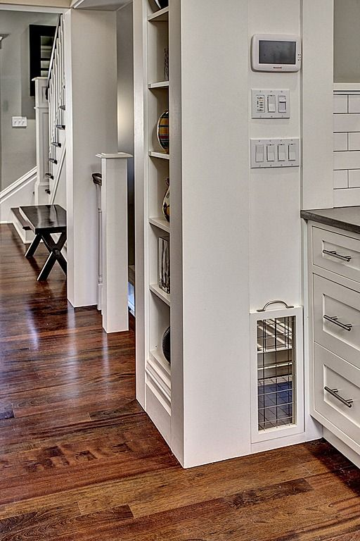 Built-in shelves for cookbooks, photos, etc. Craftsman Kitchen - Found on Zillow Digs.