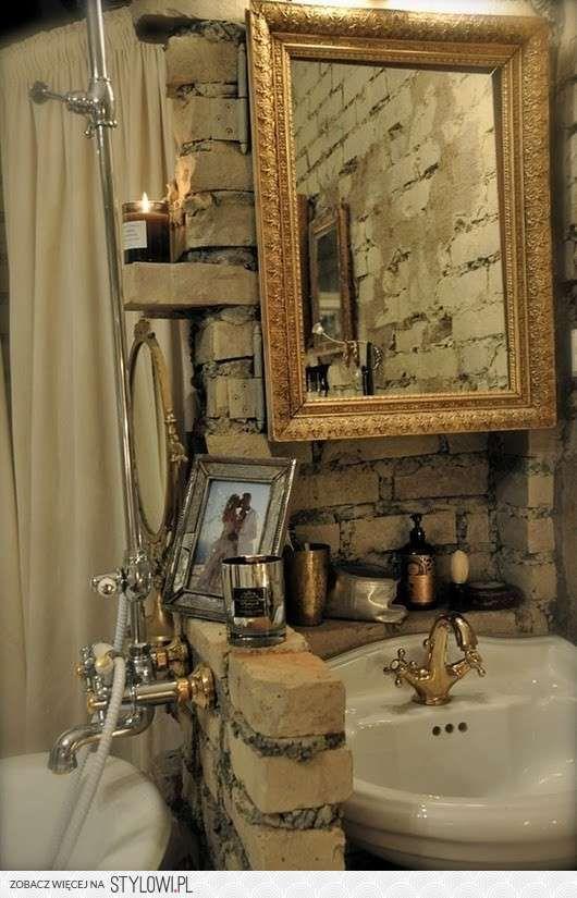 #lazienka #architekt #wnetrz #styl #rustykalny #wnetrze #lustro #interior #bathroom #aranzacja #mieszkania  #pomoc #w #aranzacji #mieszkanie #rustic #mirror