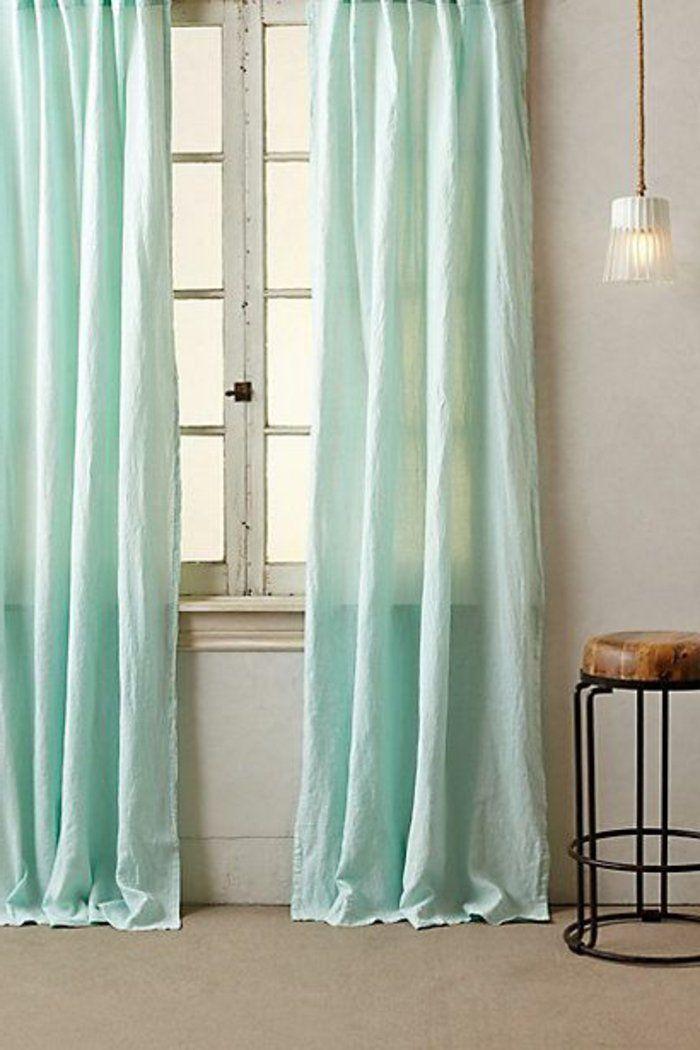 1000 id es sur le th me rideau turquoise sur pinterest - Rideau separation chambre ...