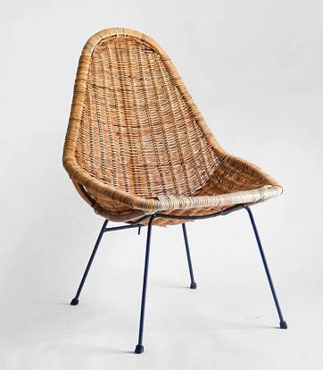 Midcentury Basket Chair - $185