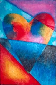 Jim Dine pastel heart