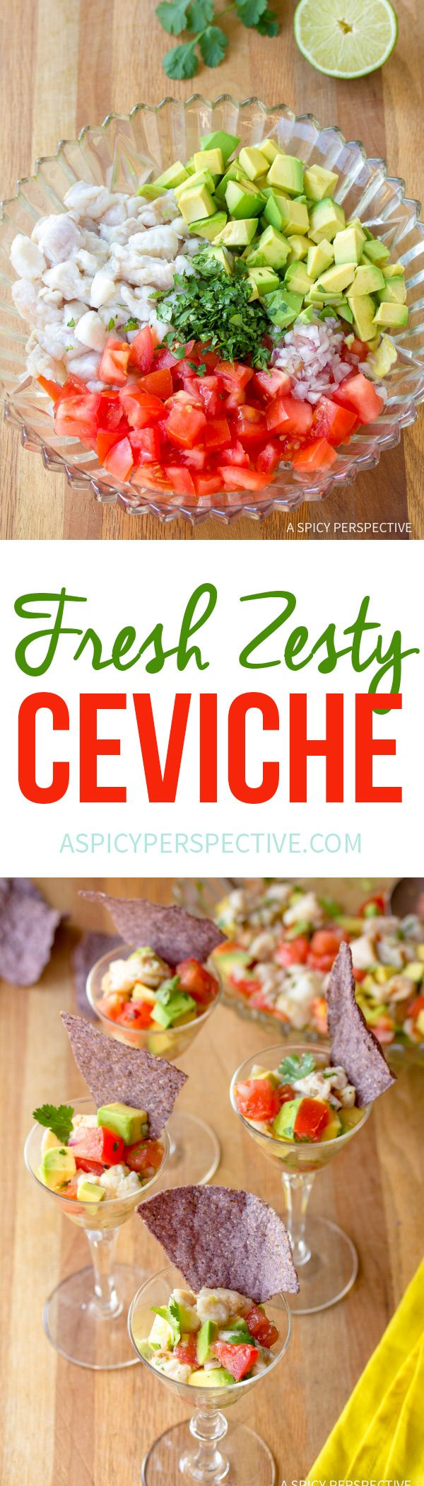 Zesty Classic Ceviche Recipe #healthy #lowcarb #paleo via @spicyperspectiv