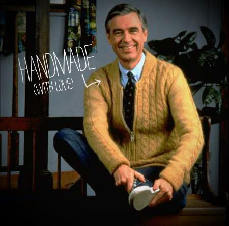 Mr. Rogers' mother, Nancy, hand knit each and every one of those sweaters the color-blind host pulled out from his closet every day.