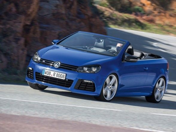 Volkswagen, Amusing 2013 Volkswagen Golf R Cabriolet Blue Front Angle: Top 2013 Volkswagen Golf R Cabri Series