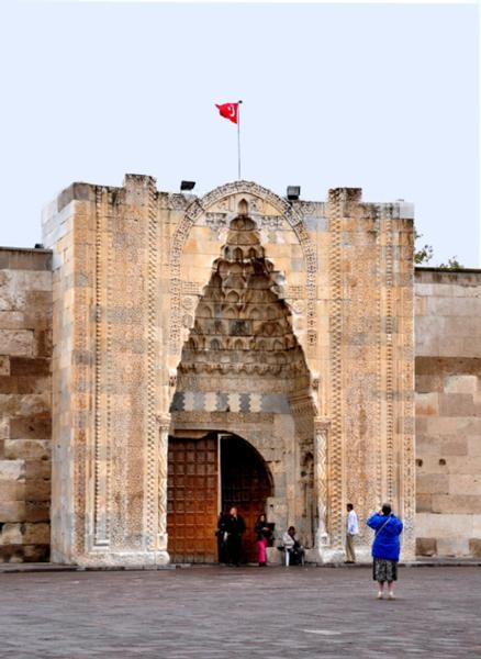 The Sultanhani Caravanserai is located along the ancient Silk-Road between Cappadocia and Konya. The structure, built between 1229 and 1236 by Sultan Keykubat, is one of the is one of the many along the ancient Silk-Road. http://afsar-h.suite101.com/sultanhani---a-silk-road-caravanserai-in-turkey-a367397