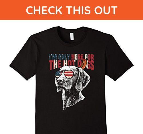 Mens Vizsla Shirt Funny 4th of July Pup Tee 2XL Black - Funny shirts (*Amazon Partner-Link)