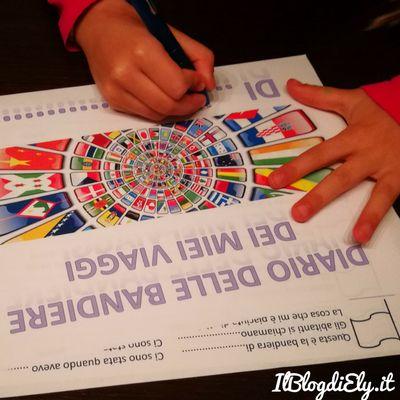 Diario delle bandiere per bambini da scaricare e stampare come ricordo di viaggio