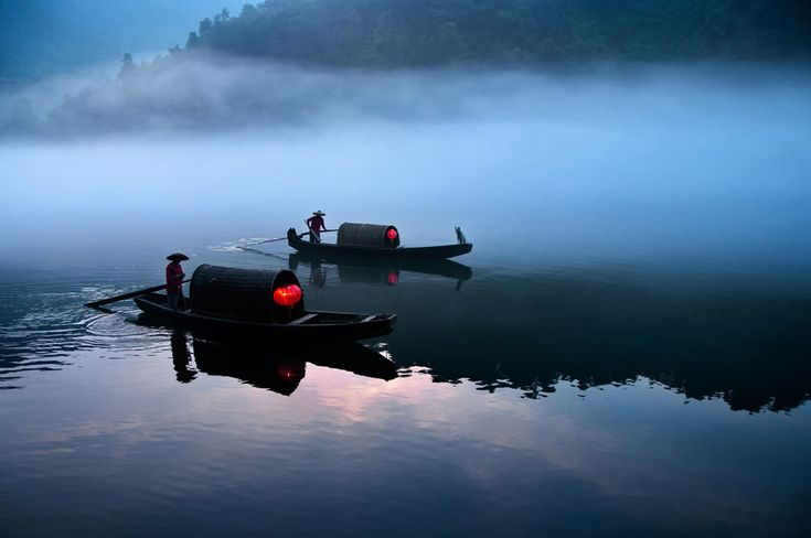 River ferry operating in the early morning in Xiao Donjiang, China, by Teng Hin Khoo, of Shah Alam, Malaysia.
