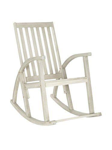 Safavieh Clayton Rocking Chair White Wash