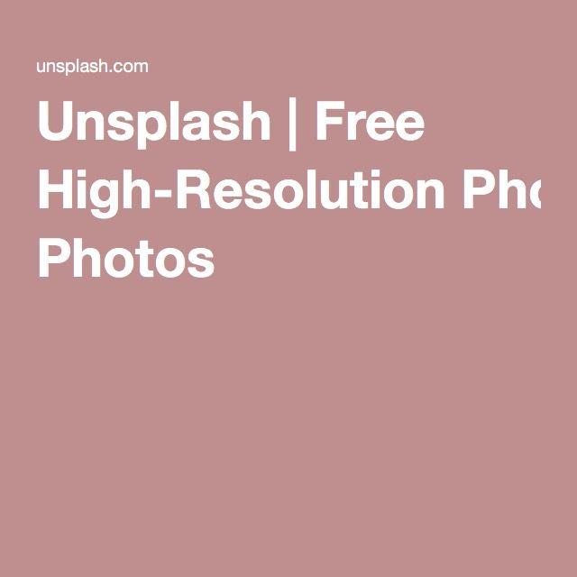 Unsplash   Free High-Resolution Photos